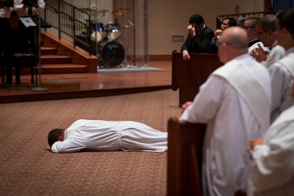 priest prostrate