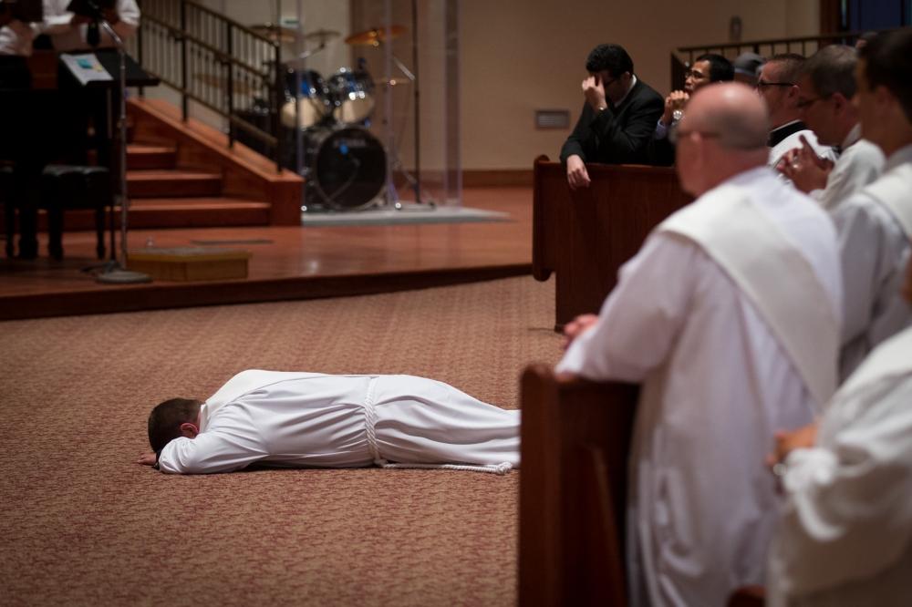 priest prostrate